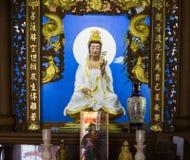 同情和慈悲雕象的女神 免版税库存照片