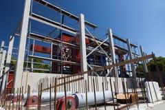 同时发热发电工厂建造进程 免版税库存图片