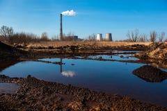 同时发热发电植物在Kyiv,乌克兰 库存照片