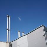 同时发热发电植物 免版税图库摄影