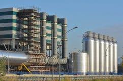 同时发热发电能源厂 免版税库存照片