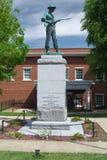 同盟南北战争纪念碑- Abingdon,弗吉尼亚 库存图片