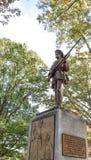 同盟国士兵的沈默山姆南北战争纪念碑雕象 免版税库存照片