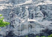同盟纪念雕刻在斯通山,乔治亚 库存图片