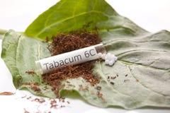 同种疗法药物tabacum 库存照片