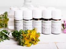 同种疗法-与同种疗法药物的一个同种疗法概念 免版税图库摄影