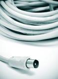 同轴的电缆 免版税库存照片