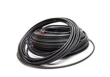 同轴黑色的电缆 免版税库存照片