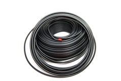 同轴黑色的电缆 库存照片