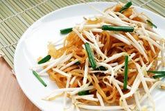 名为呵叻面条的泰国食物 免版税库存照片
