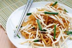 名为呵叻面条的泰国食物 库存照片