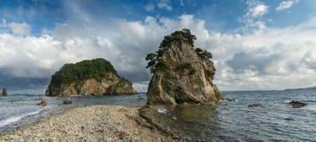 名为Gamova的俄国远东半岛 图库摄影