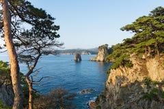 名为Gamova的俄国远东半岛 免版税库存照片