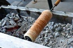 名为kurtos kalacs的传统Transylvanian蛋糕 免版税图库摄影
