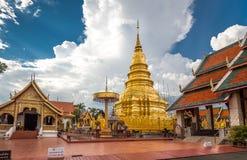名为Wat Phra的佛教寺庙骇黎朋猜 免版税库存图片