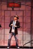 名人客人詹姆斯在宽腰带苍白期间的阿诺德泰勒 免版税库存图片