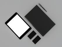 黑名册和名片 免版税库存照片