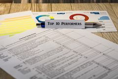 名列前茅10执行者投资策略诱导概念 图库摄影