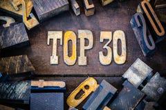 名列前茅30概念生锈的类型 免版税图库摄影
