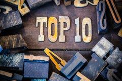 名列前茅10概念生锈的类型 库存照片