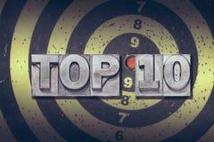 名列前茅10目标 免版税库存图片