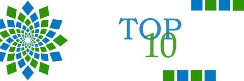 名列前茅10青绿圆水平 免版税库存图片