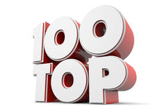 名列前茅100 免版税图库摄影