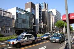 名古屋出租汽车 库存图片
