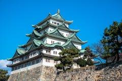 名古屋城堡在一个晴天 免版税图库摄影