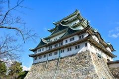 名古屋城堡在爱知县 免版税库存照片