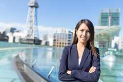 名古屋市的年轻女实业家 免版税库存照片