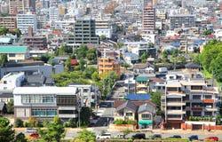 名古屋市鸟瞰图 库存图片