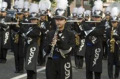 名古屋节日的音乐家,日本 免版税库存图片