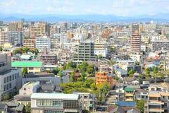 名古屋都市风景在日本 库存照片
