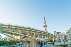名古屋,日本- 2月07 :绿洲21在名古屋, 2月07日的日本, 库存照片