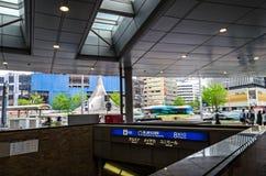 名古屋 日本, 2017年 名古屋站火车视图 免版税库存照片