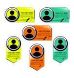 名字标签模板 免版税库存图片