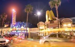 名望好莱坞大道和步行在洛杉矶加利福尼亚 免版税库存图片