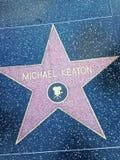 名望星米高・基顿好莱坞步行  图库摄影