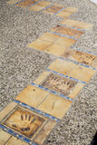 名望步行在戛纳,法国 免版税库存图片