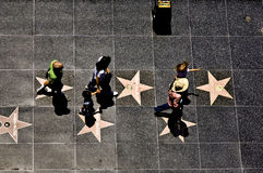 名望步行的人们  免版税图库摄影