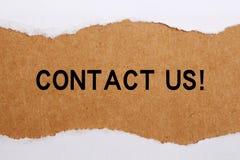 名片与我们联系空白 免版税库存图片