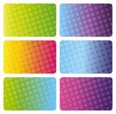 名片五颜六色的集 免版税库存图片