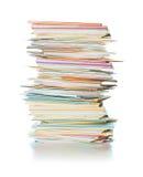 名片堆 免版税库存照片