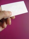 名片放置您的文本 免版税库存照片