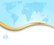 名片概念地球模板 免版税库存图片
