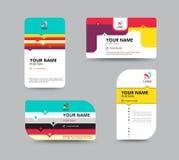 名片模板,名片布局设计,传染媒介illu 免版税图库摄影