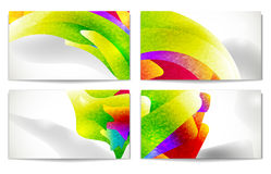名片现代集 抽象五颜六色 免版税图库摄影