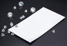 名片珠宝商或金刚石卖主 库存图片