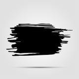 名片的,横幅,海报,笔记本,与现代手拉的墨水难看的东西纹理的邀请模板 免版税库存图片